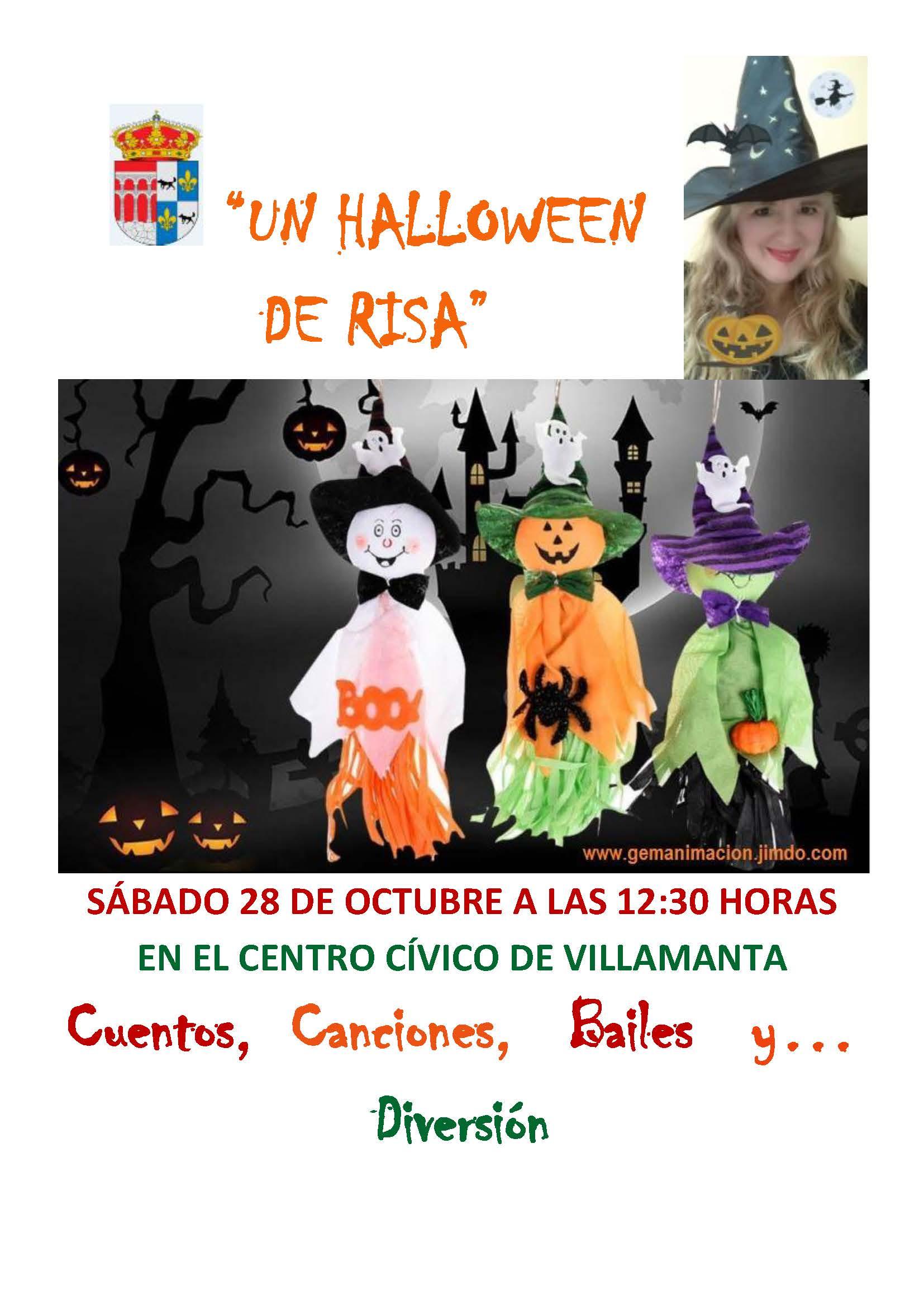 "Cartel ""Un Halloween de risa"""