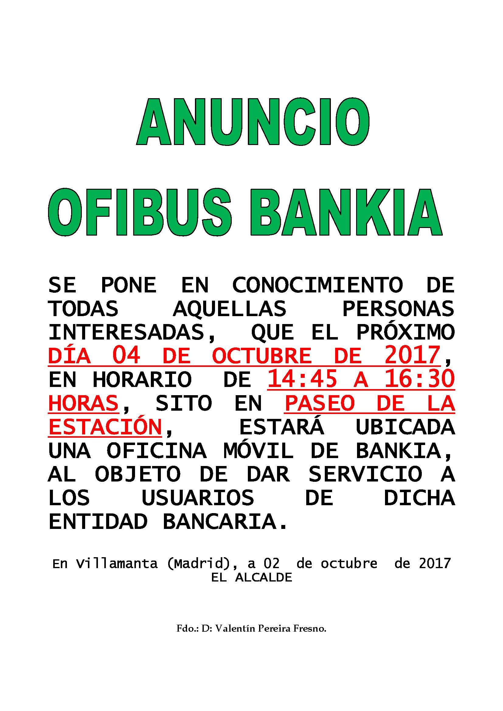 Ofibus Bankia 4 de octubre