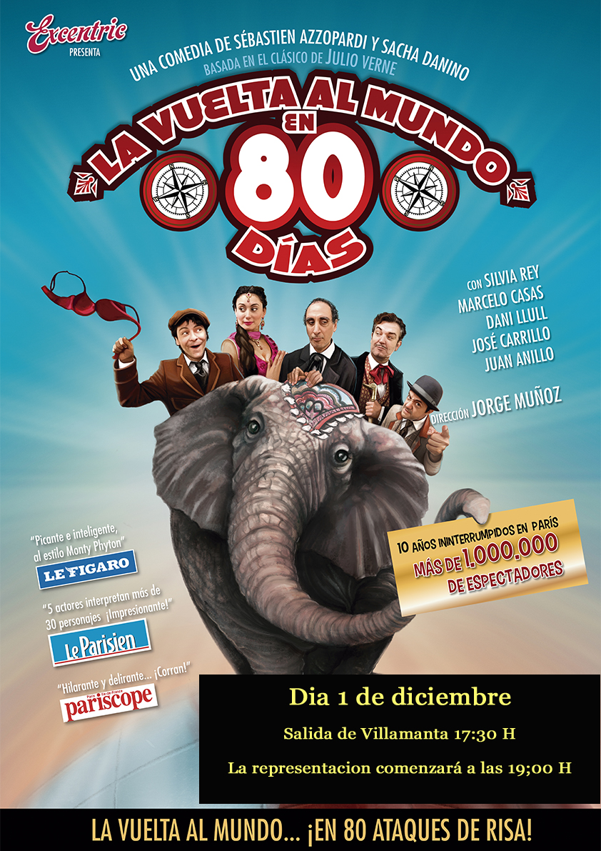 La vuelta al mundo en 80 días, 1 de diciembre