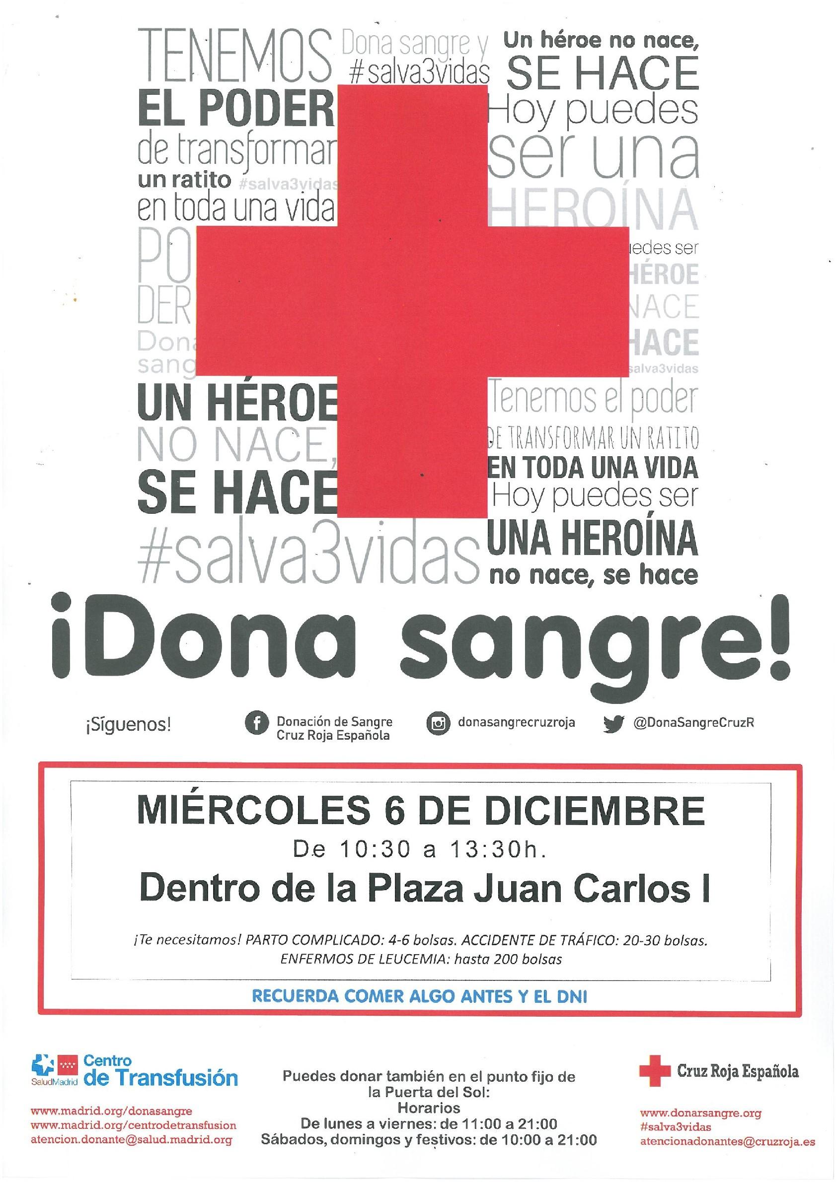 Campaña donación de Sangre 6 de diciembre