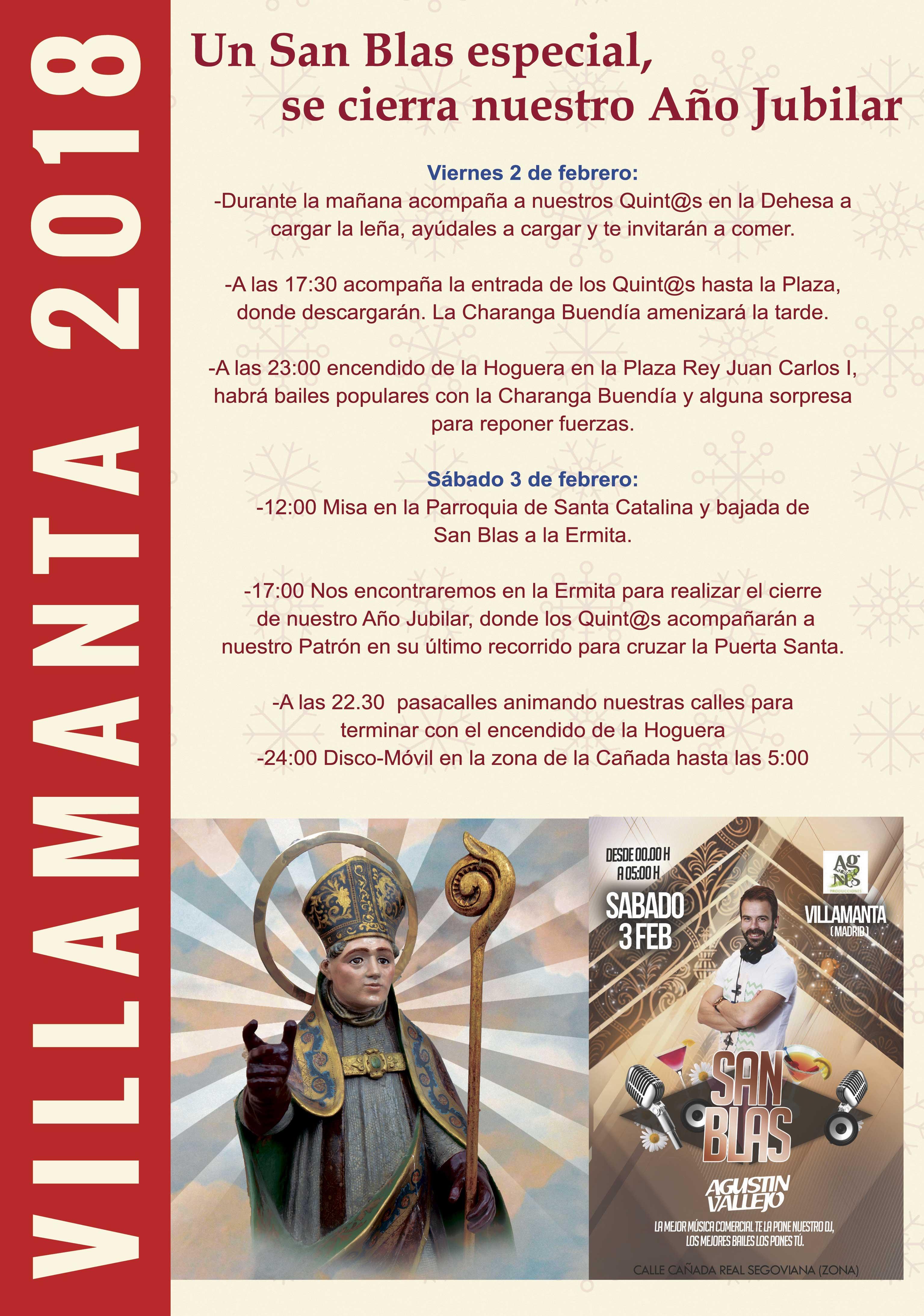 Cartel de San Blas 2 y 3 de febrero 2018