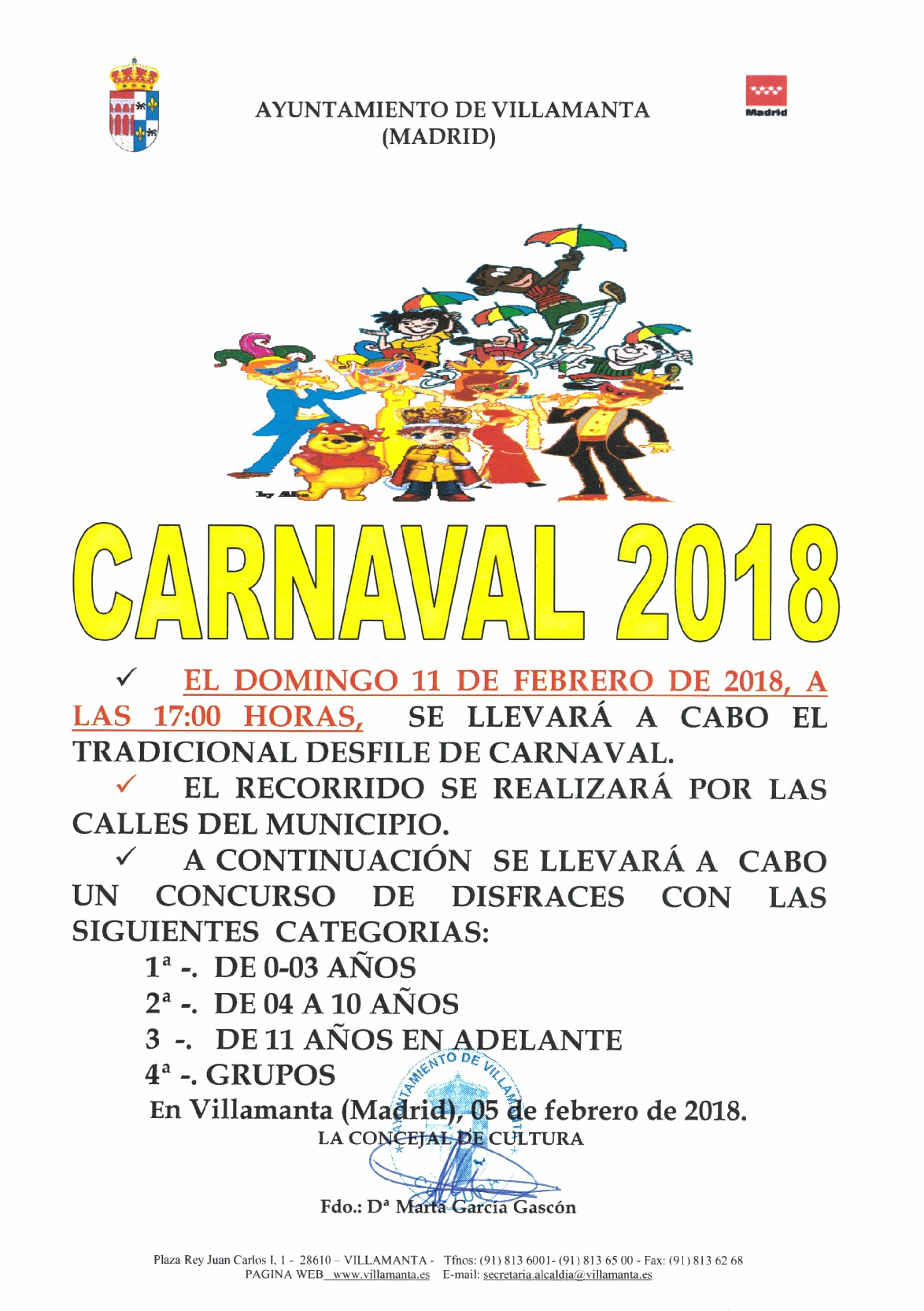 Carnaval 11 de febrero de 2018