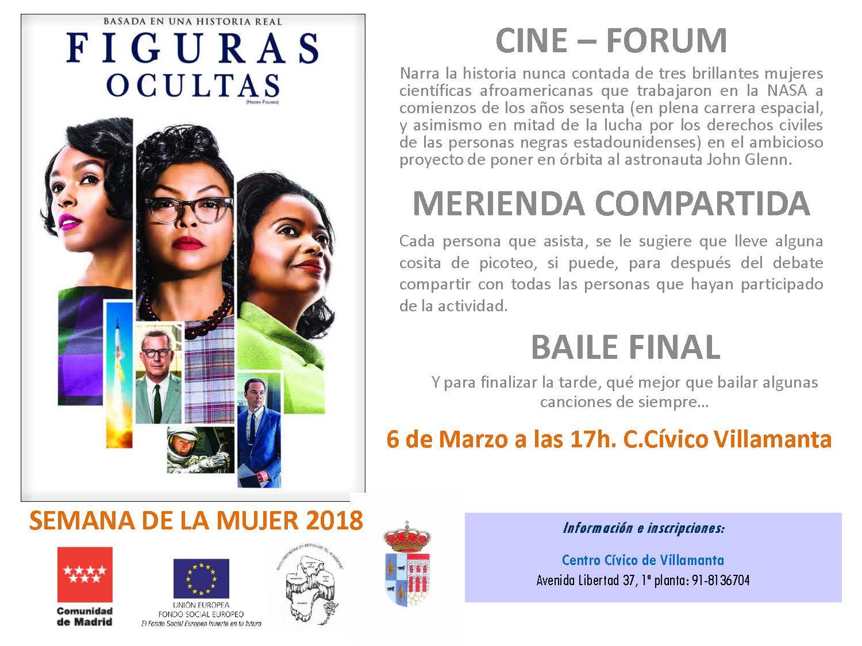 Cine-forum, merienda compartida y Baile 6 de marzo a las 17:00