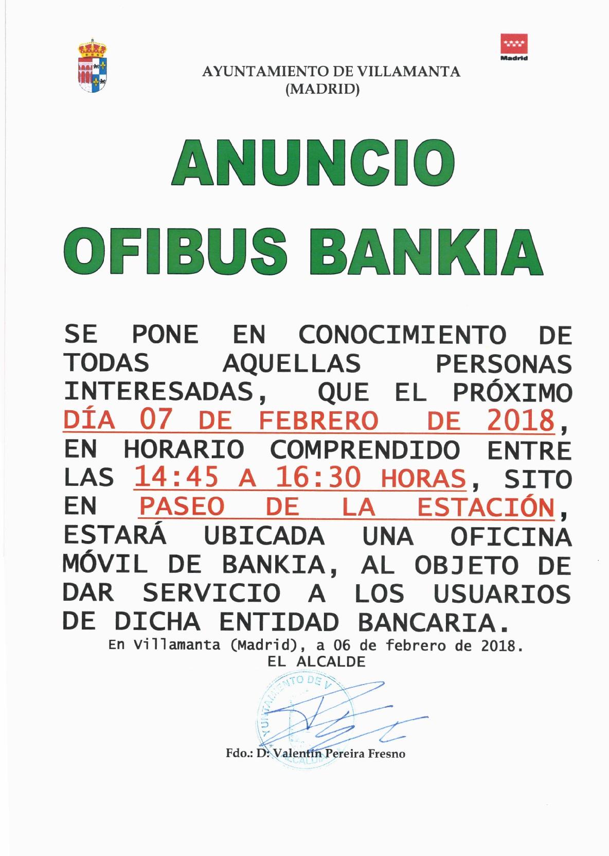 Ofibus Bankia 7/02/2018