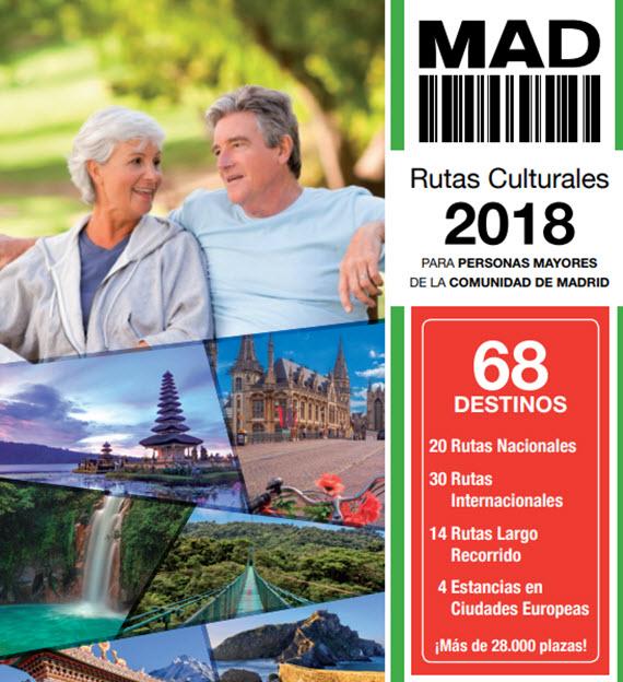Rutas culturales 2018 para personas mayores de la C. Madrid