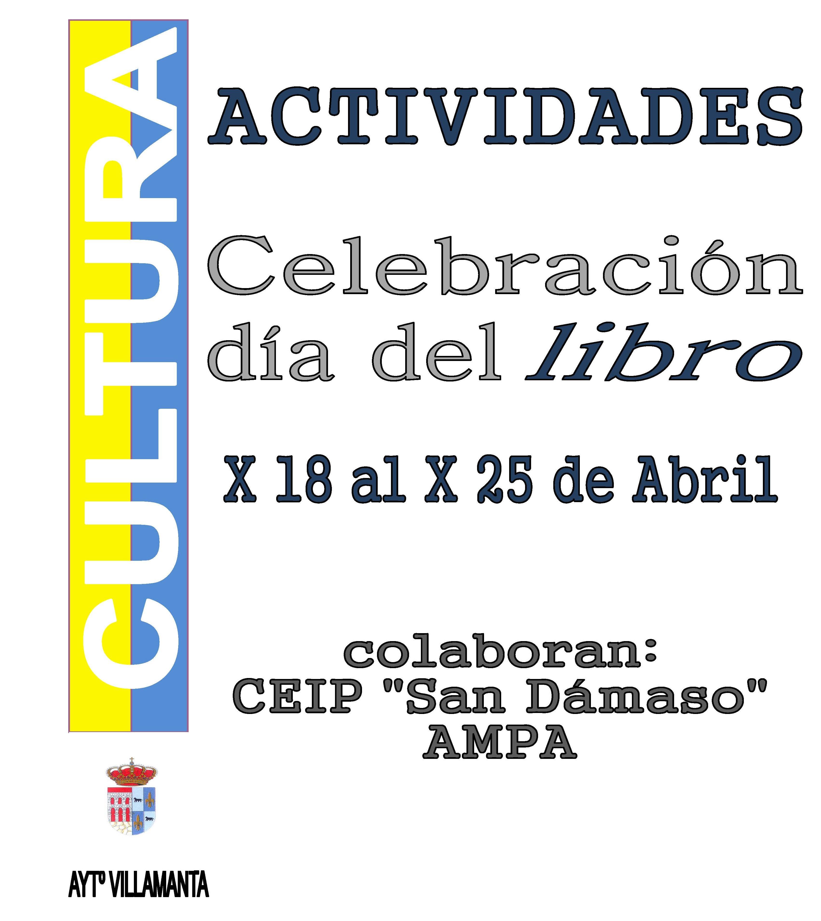 Celebración día del libro del 18 al 25 de abril