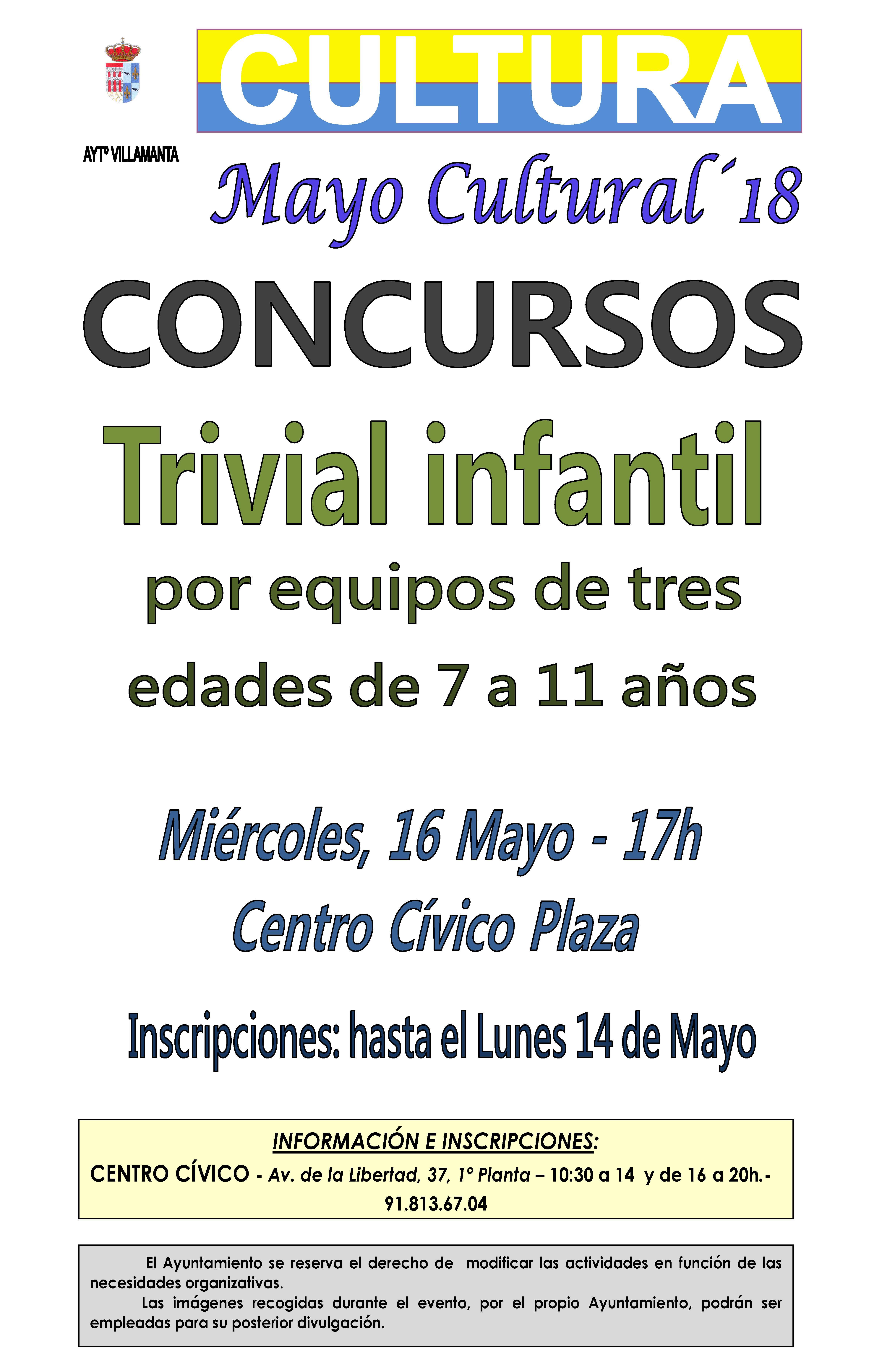 Concurso trivial infantil 16 de mayo