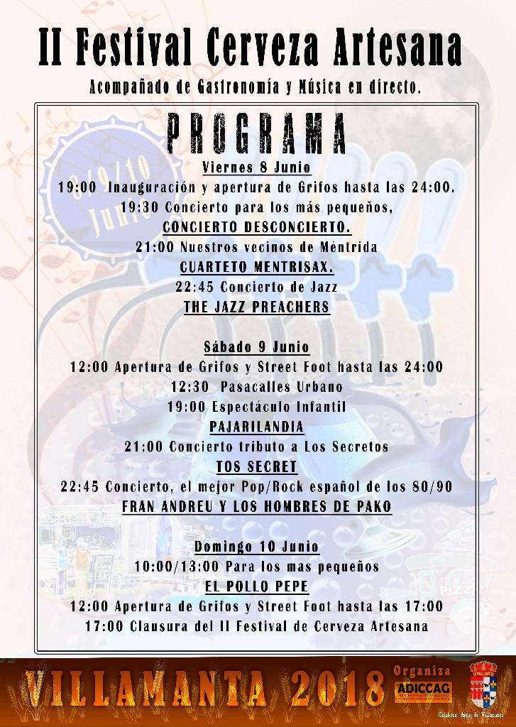II Festival Cerveza Artesana Acompañado de gastronomía y música en directo