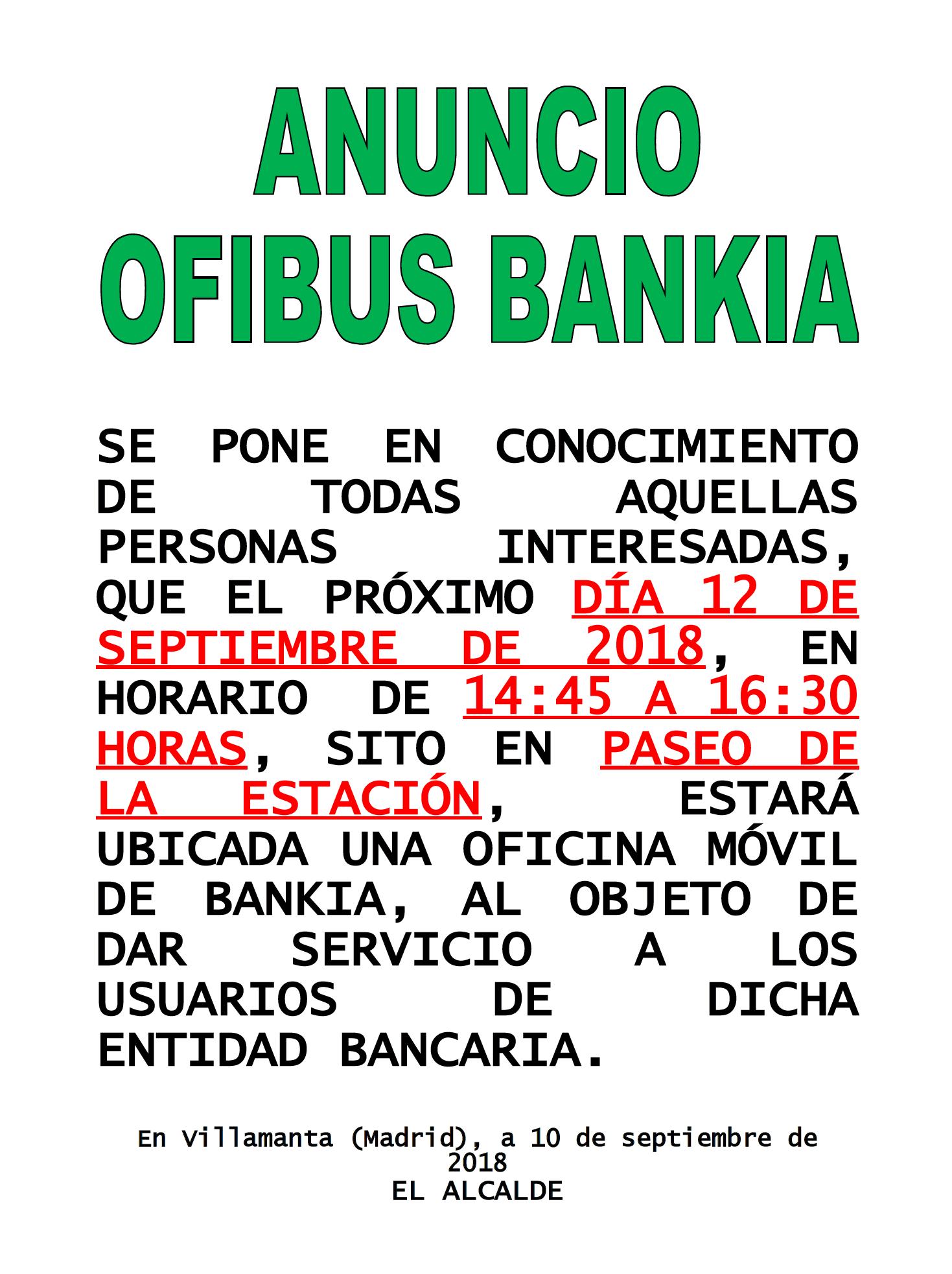 Ofibus bankia 12/09/2018
