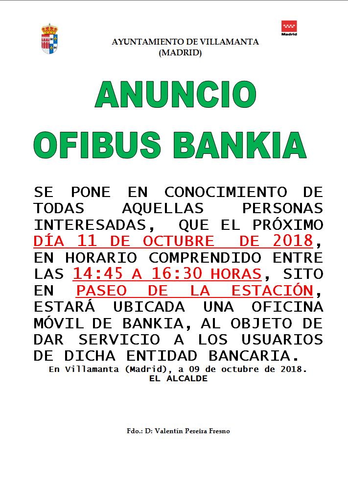 Ofibus Bankia el 11 de octubre