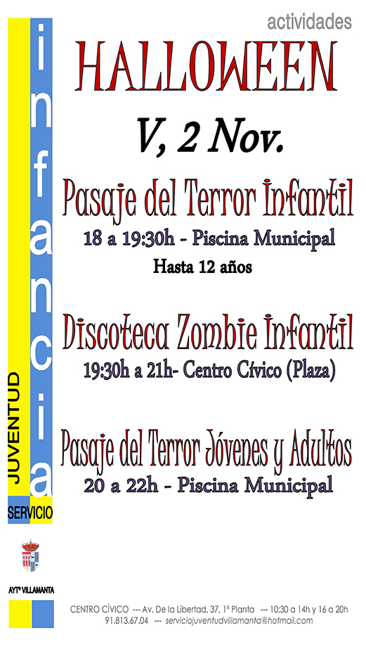 Cartel Halloween 2 noviembre