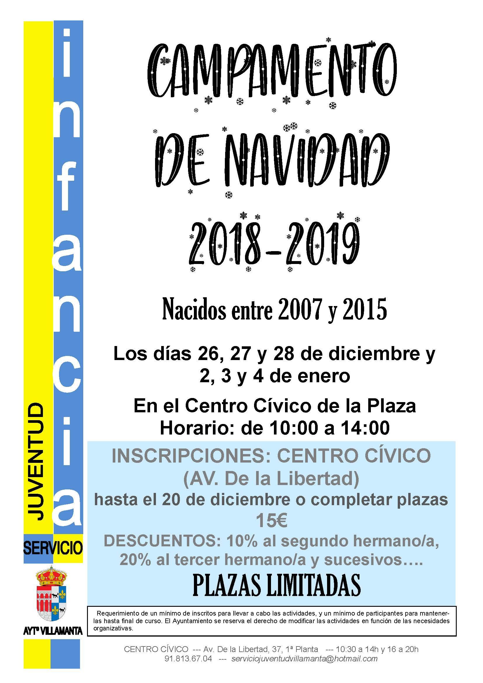 Cartel Campamento de Navidad 2018