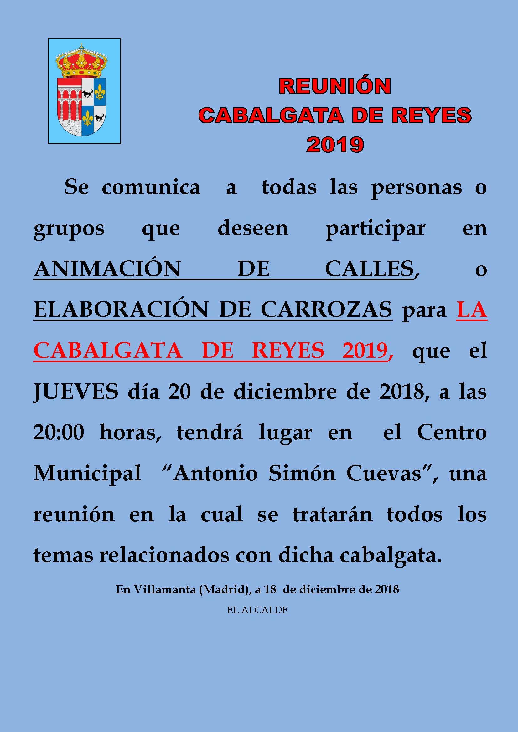 Reunion Cabalgata de reyes 2019