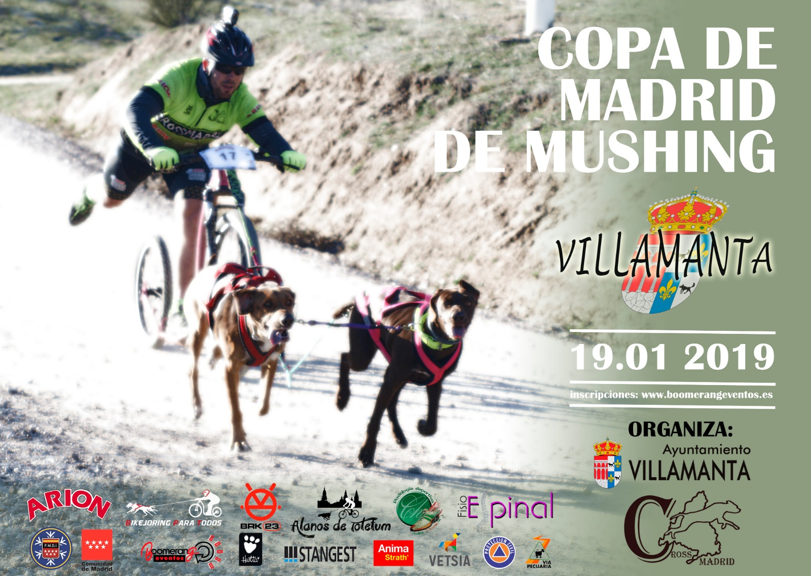 Cartel copa de Madrid de Mushing