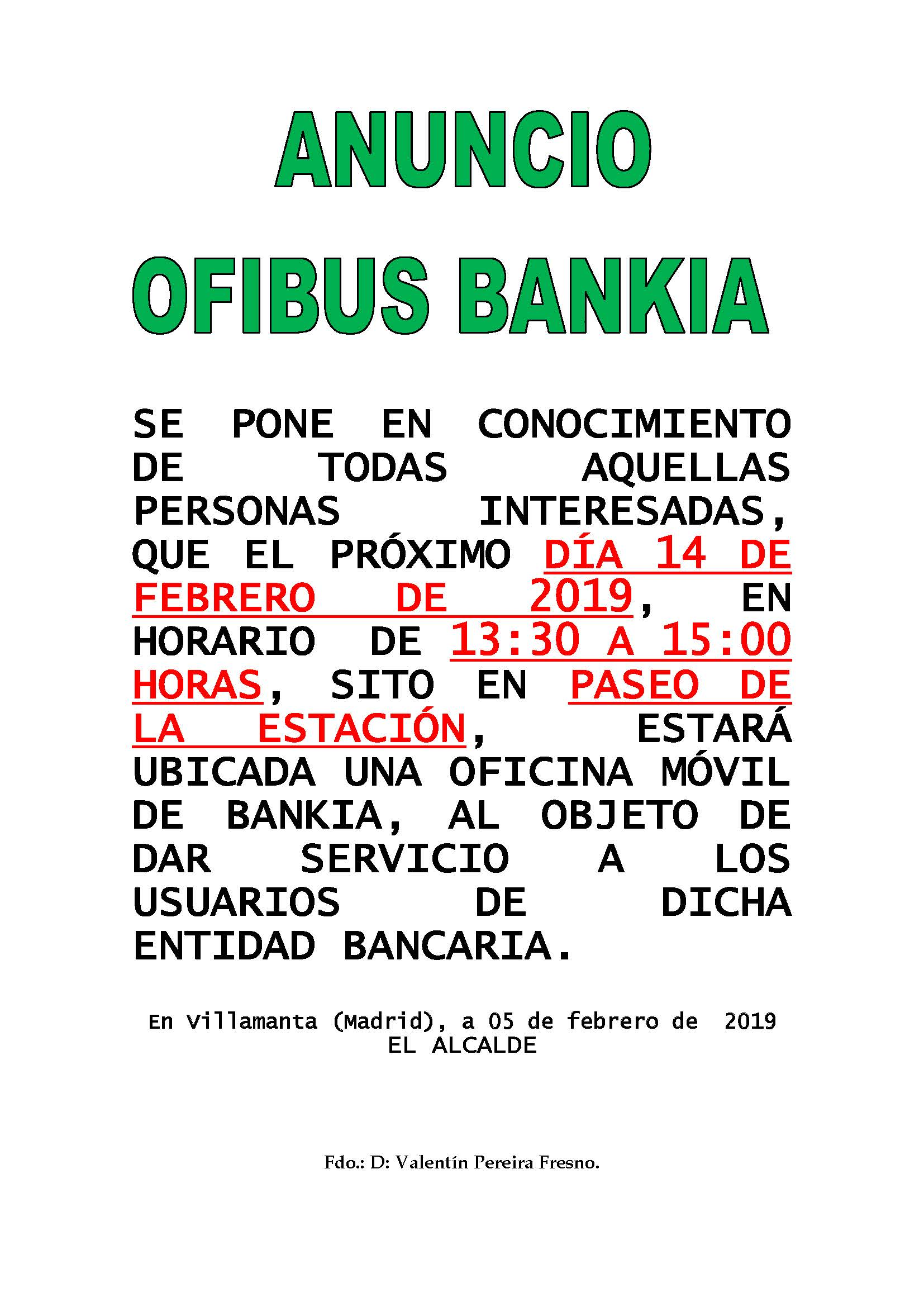 Ofibus Bankia 14 de Febrero